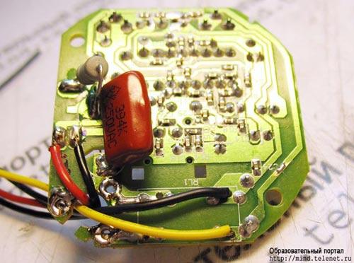 Сирена и батареи подключаются