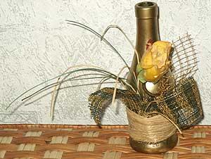бутылка декоративная