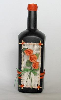 10. Декоративная бутылка в экологическом стиле.