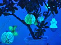 Новогодние светящиеся игрушки своими руками.