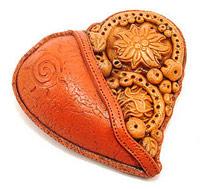 сердце кулон своими руками из полимерной глины