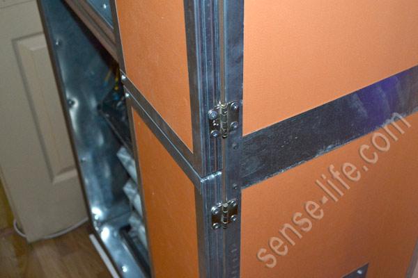 установка дверей инкубатора на петли