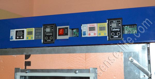 приборная панель самодельного терморегулятора