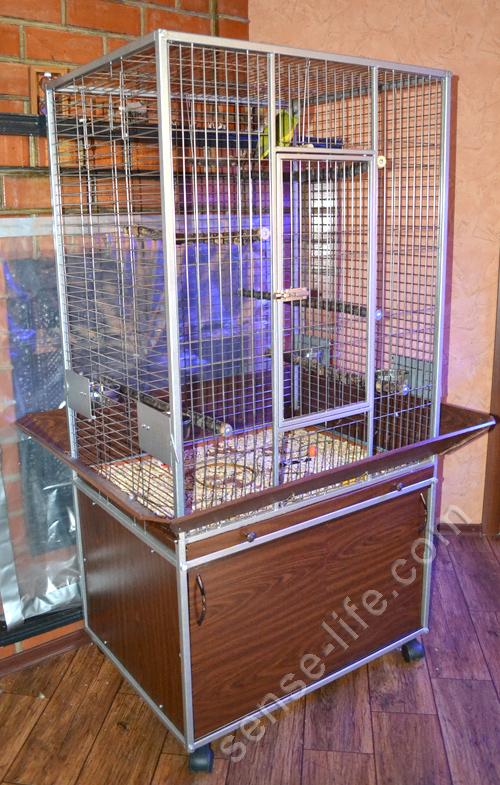 клетка вольер для крупных попугаев своими руками
