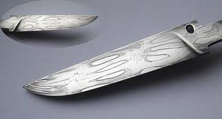 самодельный нож из дамаска