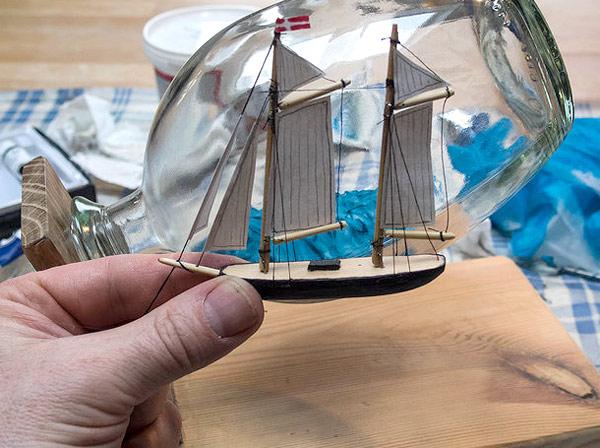корабль в бутылке своими руками
