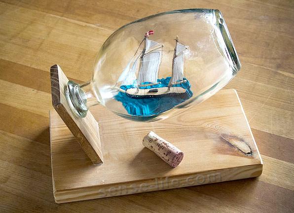 Кораблик своими руками из бутылки