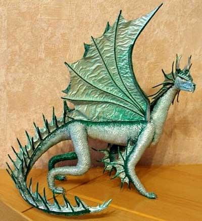 лепка дракона