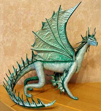лепка дракона своими руками