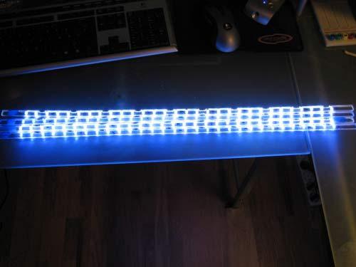 держатель для светодиодов в действии