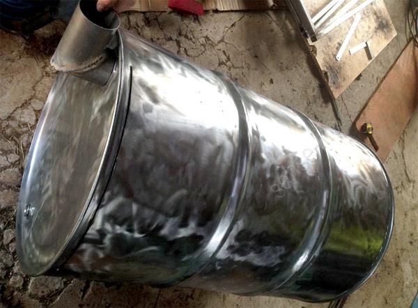 изготовление мангала барбекю из бочки
