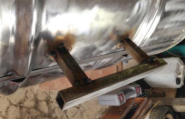 установка ручки на мангал барбекю