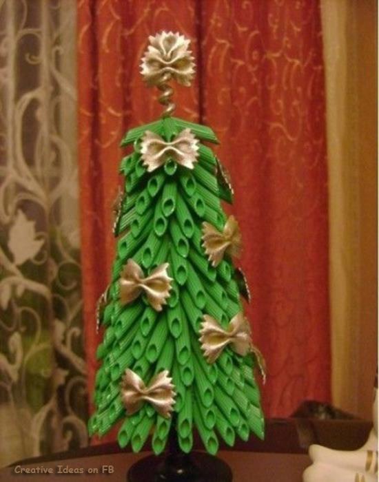 елка из макарон своими руками
