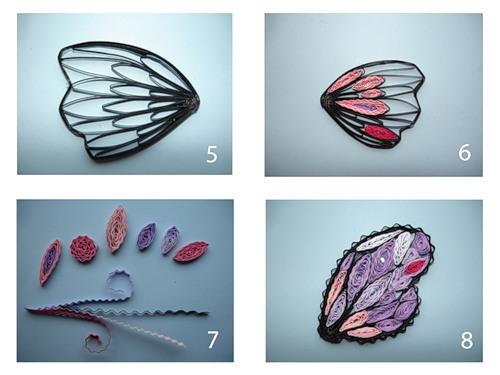 изготовление бабочки квиллинг