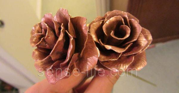 Розы на проволоке своими руками