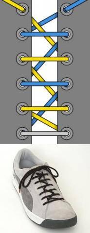 Несколько методов завязывания шнурков.
