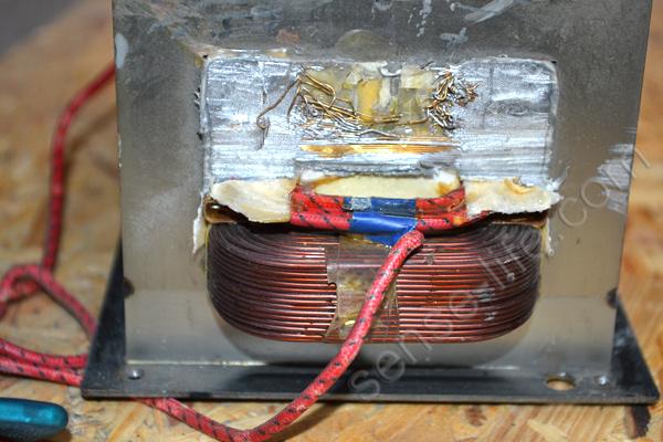 удаление обмотки трансформатора