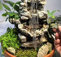 Как сделать миниатюрный домашний водопад – флорариум